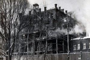 Строительство нового корпуса Института (1926 год)